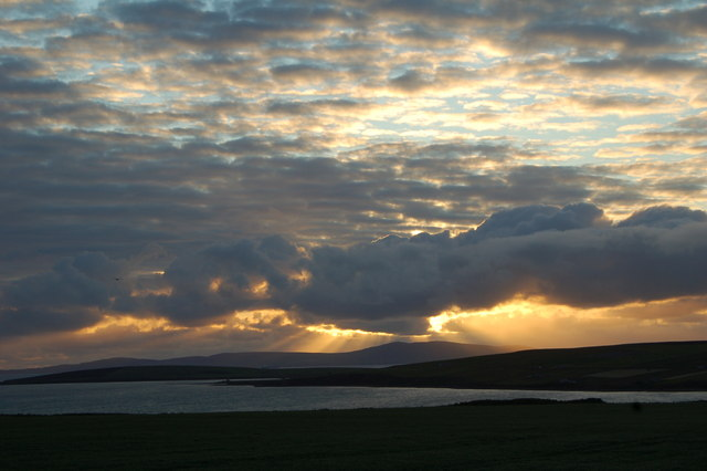 Sunset, from near Grimness