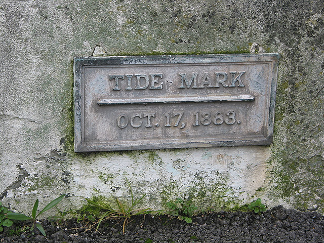 An early record marking a high tide