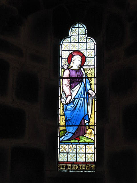 Stained glass window in St.Mark's Church