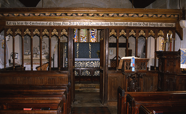 Interior of the church at Winterborne Came
