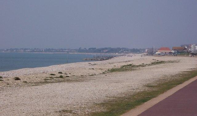 Beach  looking west-Lee on Solent