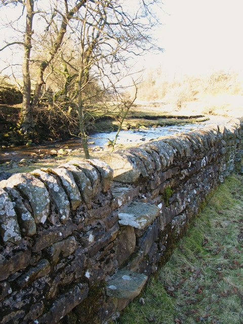 Stone stile in drystone wall