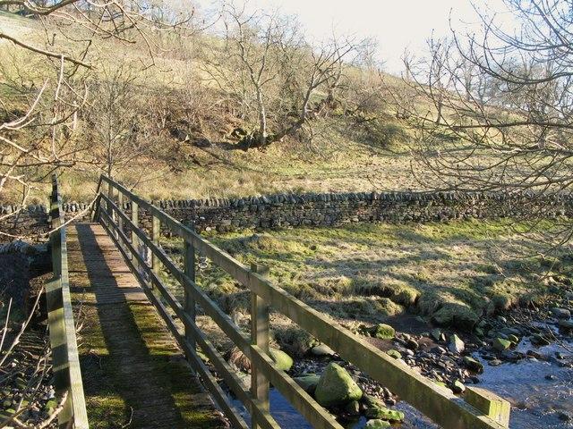 Footbridge over the River West Allen (2)