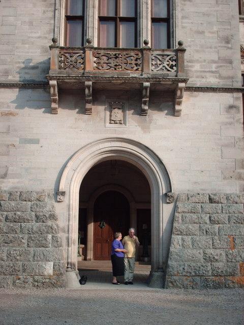 Entrance to Dunrobin Castle