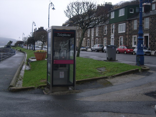 Telephone kiosk at harbour car park, Rothesay