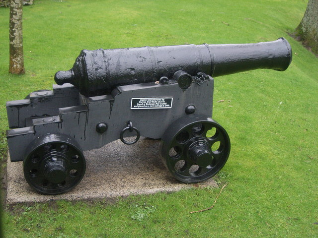 Cannon in grounds of Rothesay castle