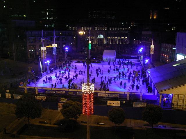 Skating at Millennium Square