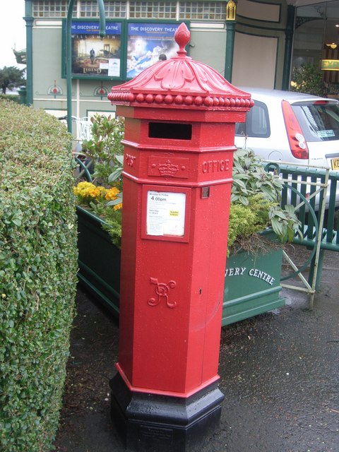 VR Postbox outside Isle of Bute Discovery Centre