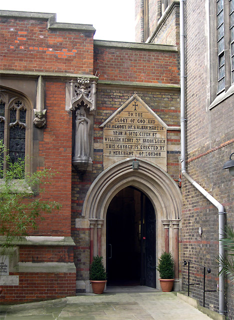 St Alban's Church (entrance), Holborn