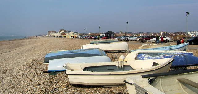 Boats on Seaford Beach