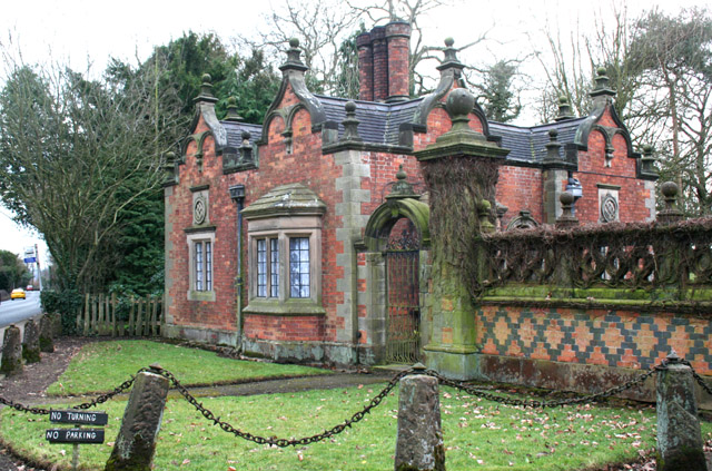 Gate lodge of Dorfold Hall, near Acton