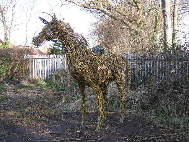 Horse, made with willow