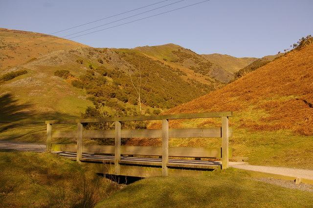 Footbridge in Carding Mill Valley