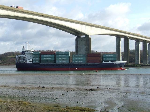 Ara Zeebrugge leaves Ipswich