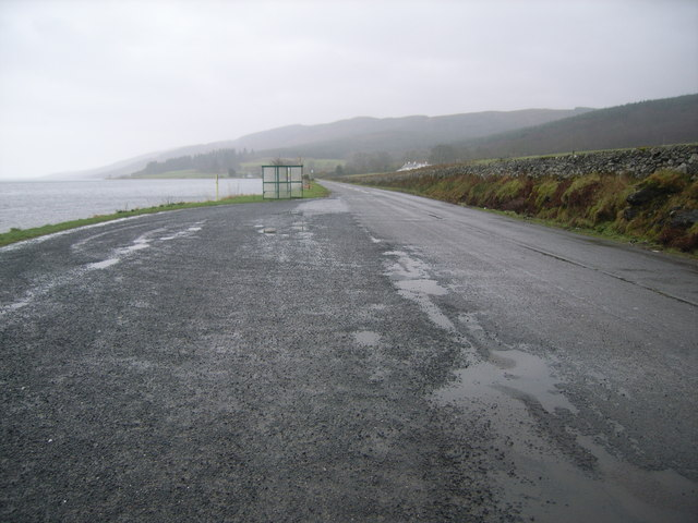 Looking away from the Colintraive ferry slipway