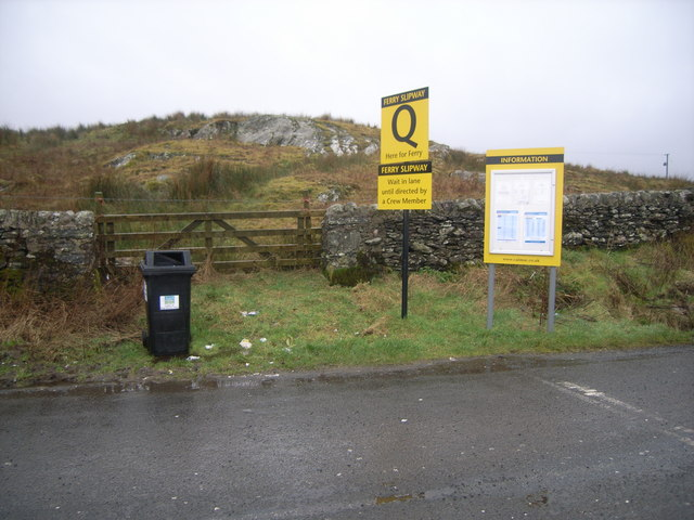 Colintraive ferry crossing - queuing point