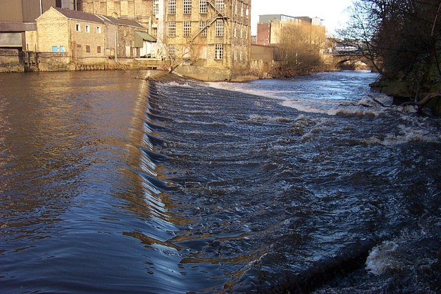 Weir at Sugden's Mill, Brighouse