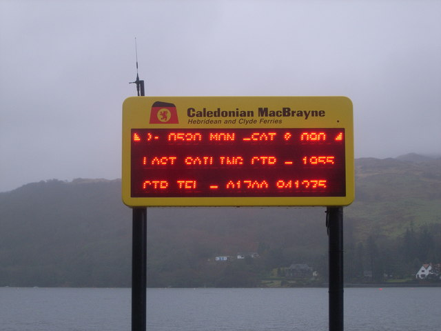 Caledonia MacBrayne ferry sign