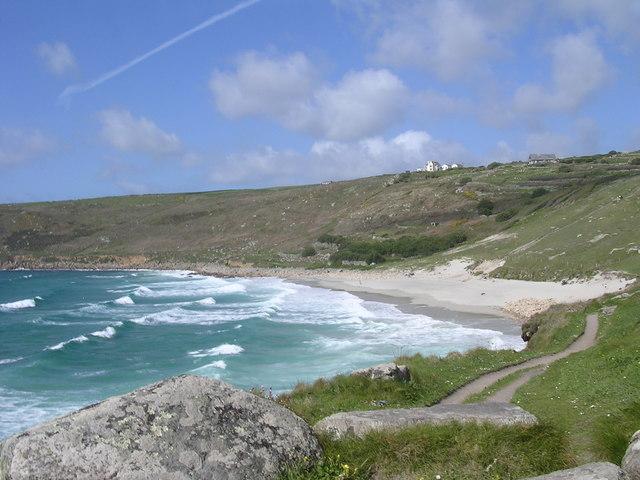 Gwynver Beach from the SW Coast Path