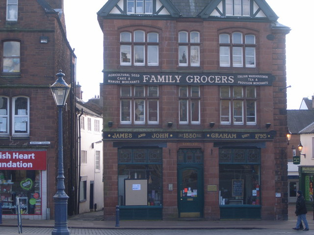 James & John Graham Family Grocers shop