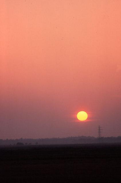 Sunset over Altcar Moss