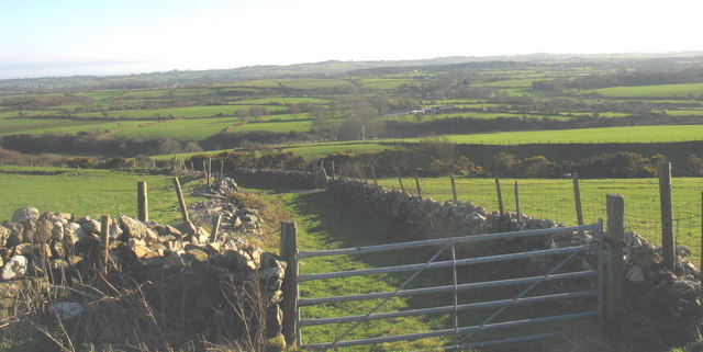 Gateway leading to the greenlane linking Carnguwch with Llwyndyrys