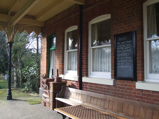 Waiting room, the old station at Heacham