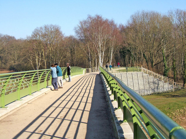 Severn Valley Country Park - view on footbridge