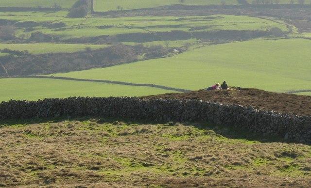 February picnickers on Mynydd Carnguwch
