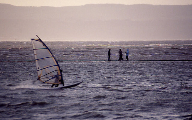 Windsurfer on West Kirby Marine Lake