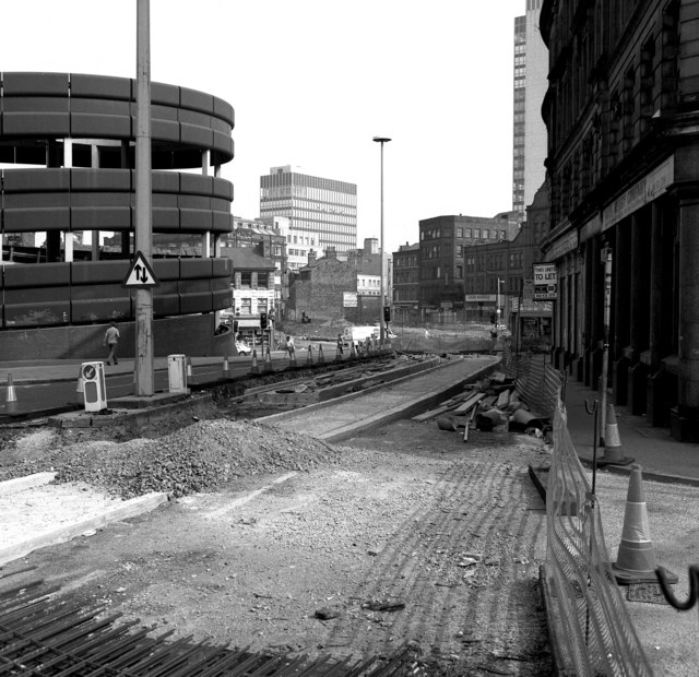 Looking across Shudehill, Manchester