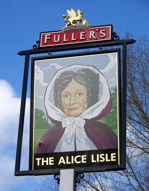 Sign for the Alice Lisle