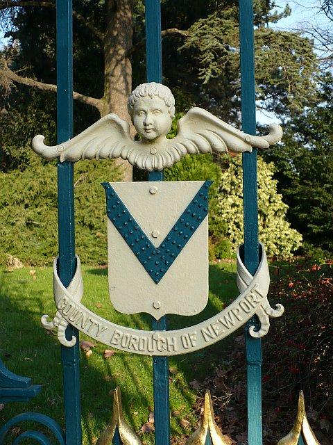 Newport Coat of Arms, Belle Vue Park