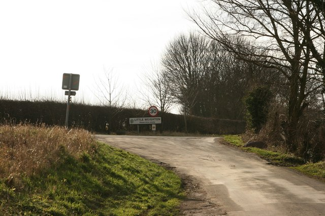 Entering Little Weighton from Risby Hill
