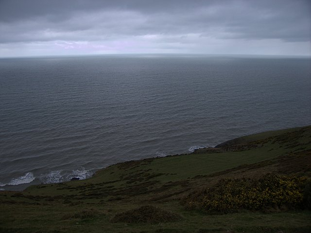 Coastal headland on the Cardigan Bay