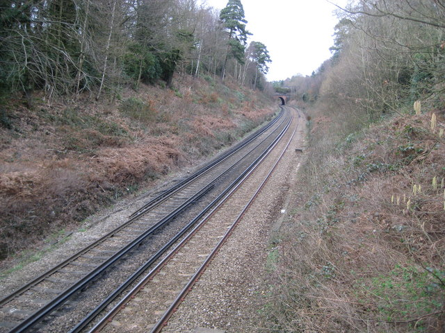 Witley: Railway line to Milford