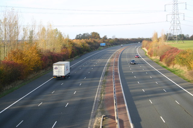 The M40 looking North