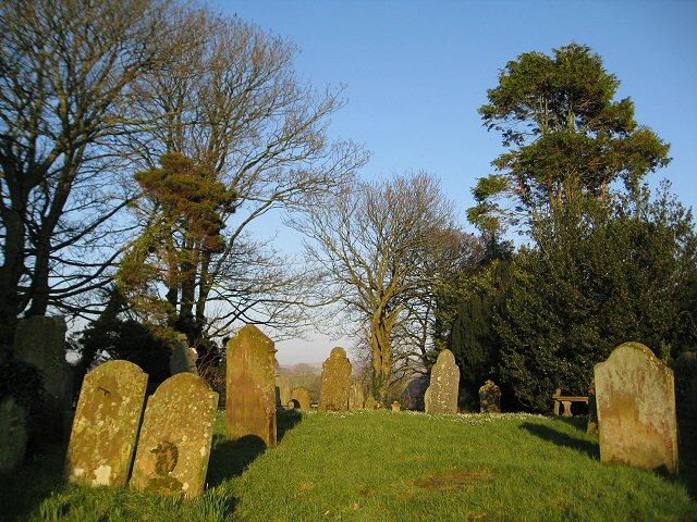 Old gravestones in St Bridget's Churchyard
