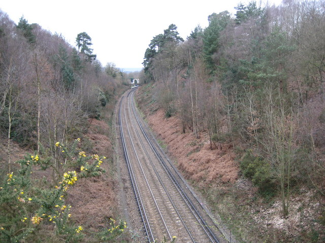 Wormley: Railway line to Portsmouth