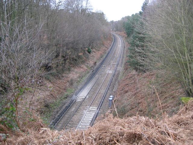 Wormley: Railway line to London