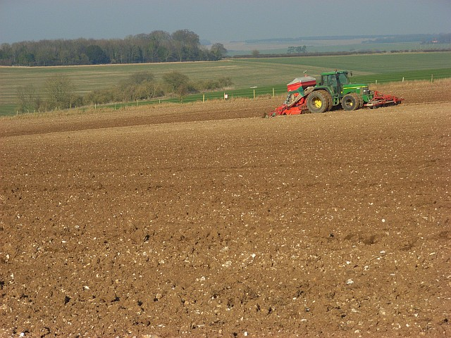 Farming above Shrewton
