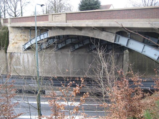 A31 road bridge over the A3