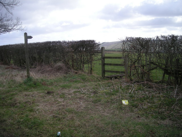 Stile and signpost