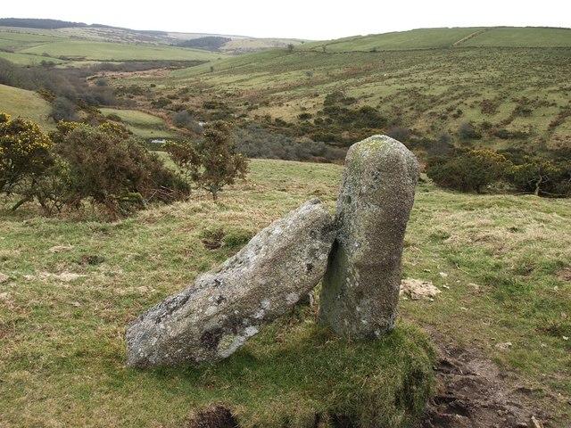 Granite posts, Fowey valley