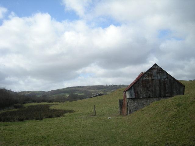 Grazing land & sheep shelter