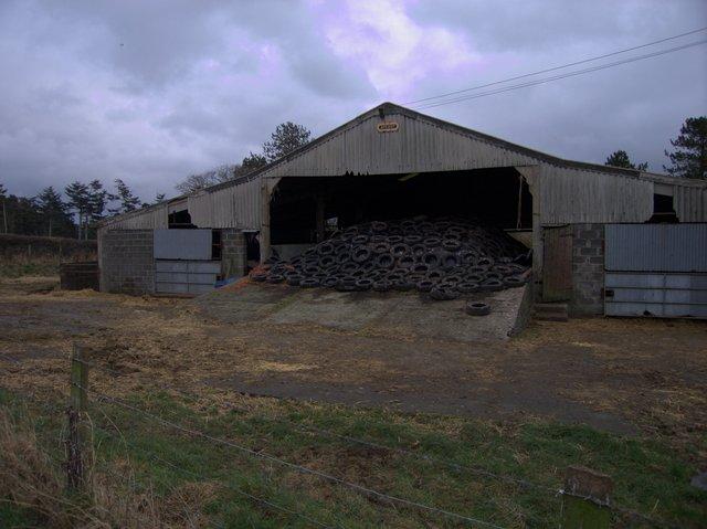 Silage barn at Pen Cwm Isaf