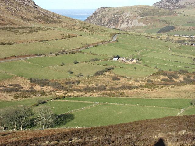 Gelliau Farm from Mynydd Carnguwch