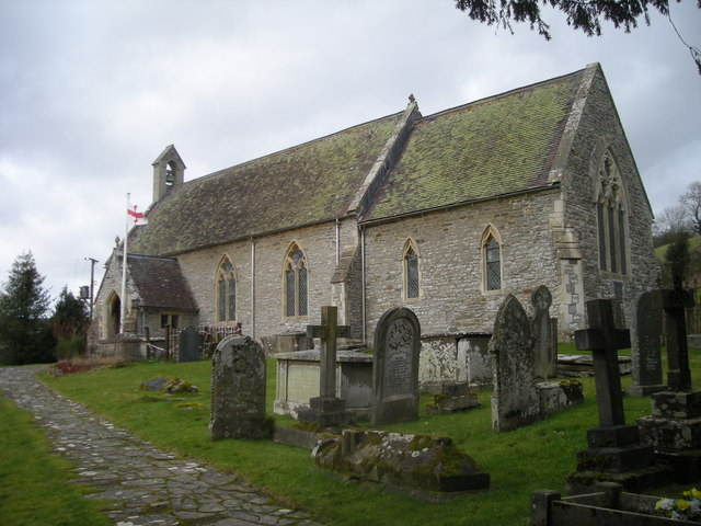 The Church at Llanfair Waterdine - it's in England inspite of the name.