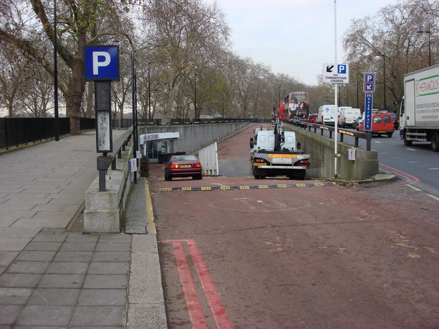 Entrance to Park Lane Underground Car Park