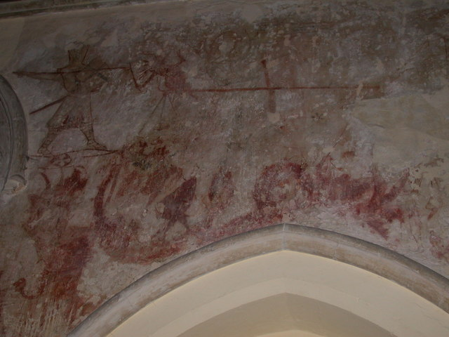 Wall painting, St Peter's Church